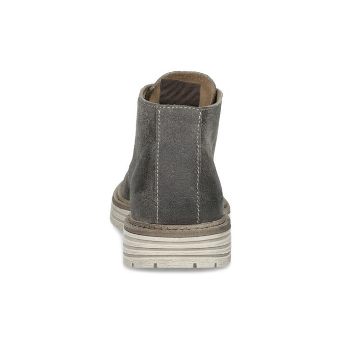 Pánská kotníčková obuv z broušené kůže weinbrenner, šedá, 896-2735 - 15