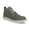 Pánská kotníčková obuv z broušené kůže weinbrenner, šedá, 896-2735 - 13