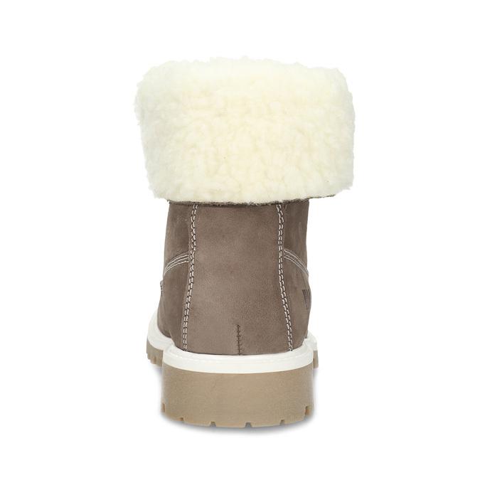 Hnědá dámská kožená zimní obuv weinbrenner, hnědá, 596-4727 - 15