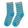 Dětské vysoké pruhované ponožky bata, šedá, 919-2686 - 16