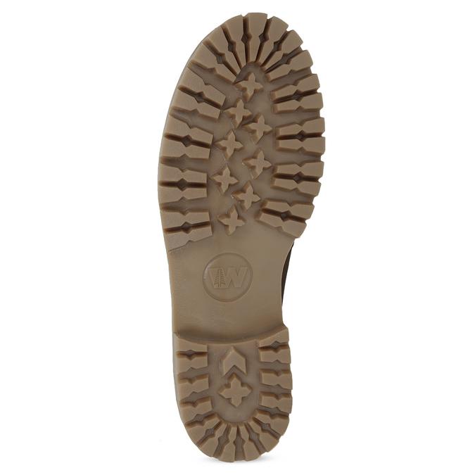 Dámská hnědá kožená zimní obuv weinbrenner, hnědá, 596-3743 - 18