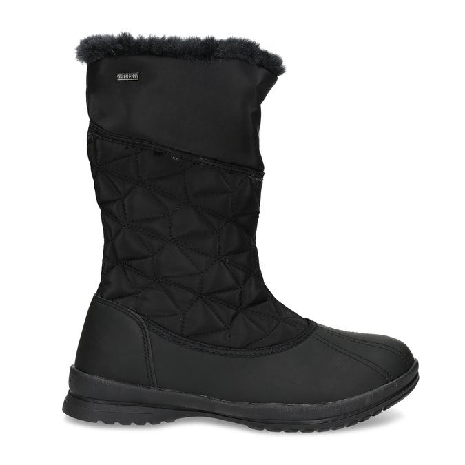 Dámská černá zimní obuv s prošíváním bata, černá, 599-6624 - 19