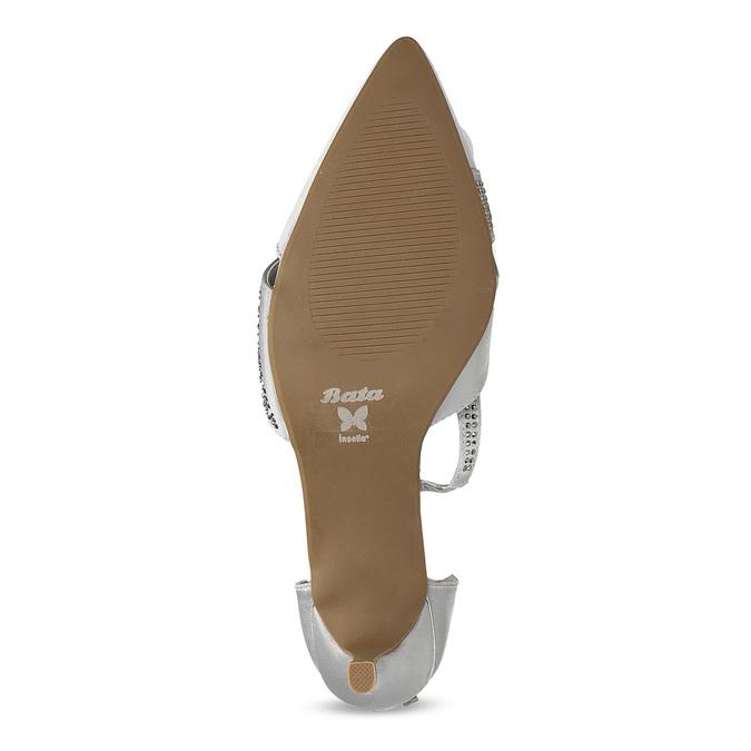 Stříbrné dámské sandály na jehlovém podpatku insolia, stříbrná, 729-1634 - 18