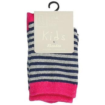 Dětské vysoké pruhované ponožky bata, šedá, 919-2688 - 13