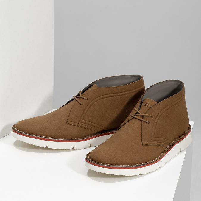 Ležérní hnědá pánská Desert Boots obuv bata-b-flex, hnědá, 899-3600 - 16