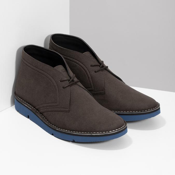 Hnědá pánská kotníčková obuv bata-b-flex, hnědá, 899-4600 - 26