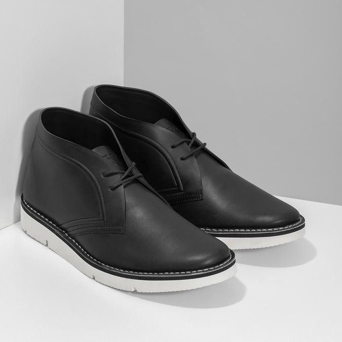 Černá pánská kotníčková obuv bata-b-flex, černá, 899-6601 - 26