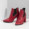 Červené kotníčkové kozačky v Chelsea stylu bata, červená, 794-5609 - 16