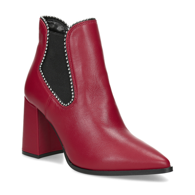 Červené kotníčkové kozačky v Chelsea stylu bata, červená, 794-5609 - 13