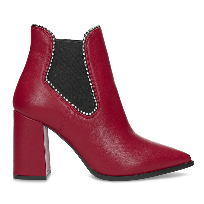 Červené kotníčkové kozačky v Chelsea stylu bata, červená, 794-5609 - 19