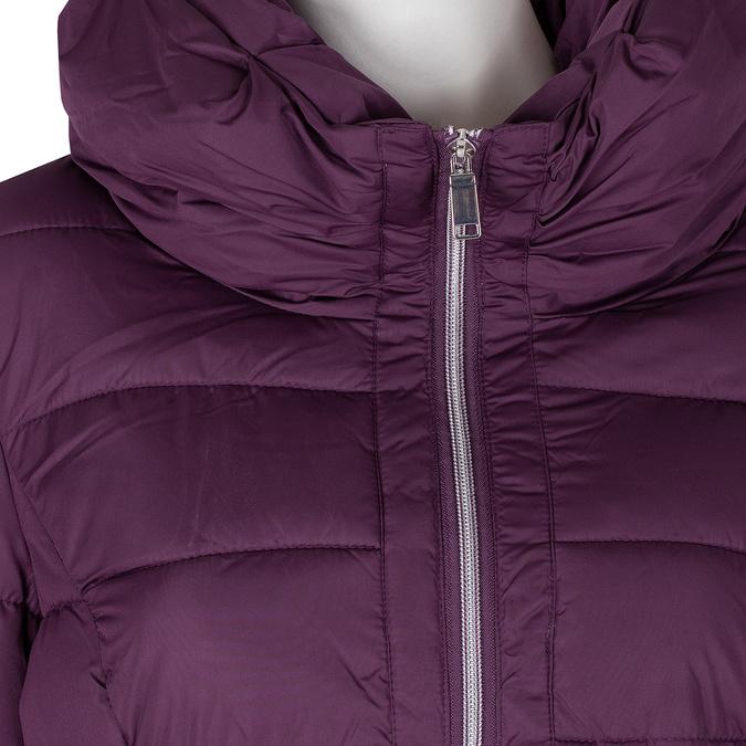 Dlouhá dámská fialová bunda s prošitím bata, fialová, 979-0348 - 16