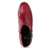 Červené kožené kotníčkové kozačky s přezkou bata, červená, 794-5608 - 17