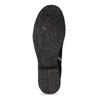 Kožená kotníčková obuv s přezkami černá a-s-98, černá, 626-6086 - 18