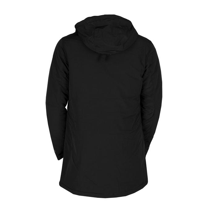 Dlouhá pánská černá bunda s kapucí bata, černá, 979-6366 - 26