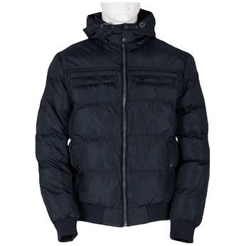 Pánská modrá bunda s kapucí bata, modrá, 979-9387 - 13