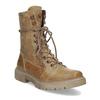 Světle hnědá dámská kožená obuv weinbrenner, hnědá, 596-3758 - 13
