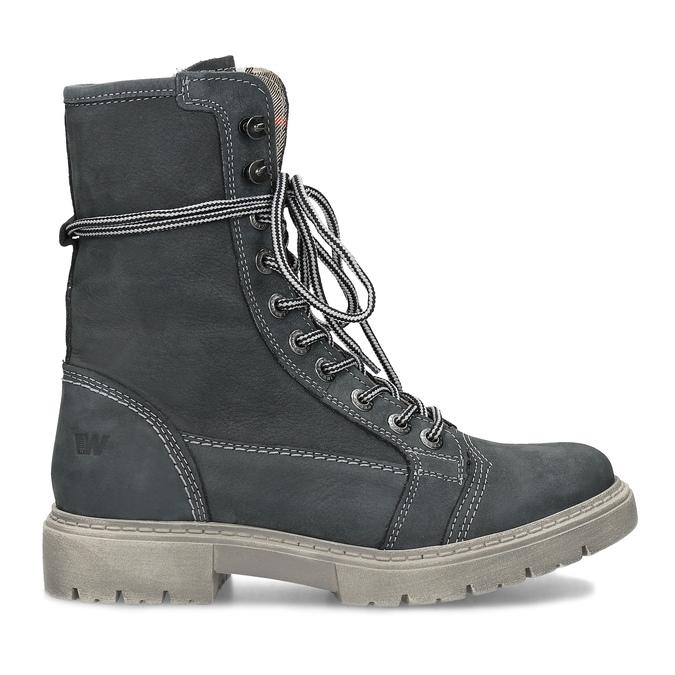 Kožená dámská vysoká obuv weinbrenner, šedá, 596-2746 - 19