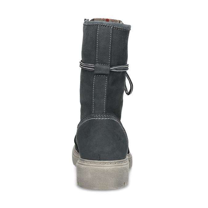 Kožená dámská vysoká obuv weinbrenner, šedá, 596-2746 - 15