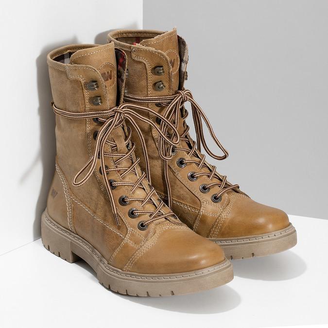 Světle hnědá dámská kožená obuv weinbrenner, hnědá, 596-3758 - 26