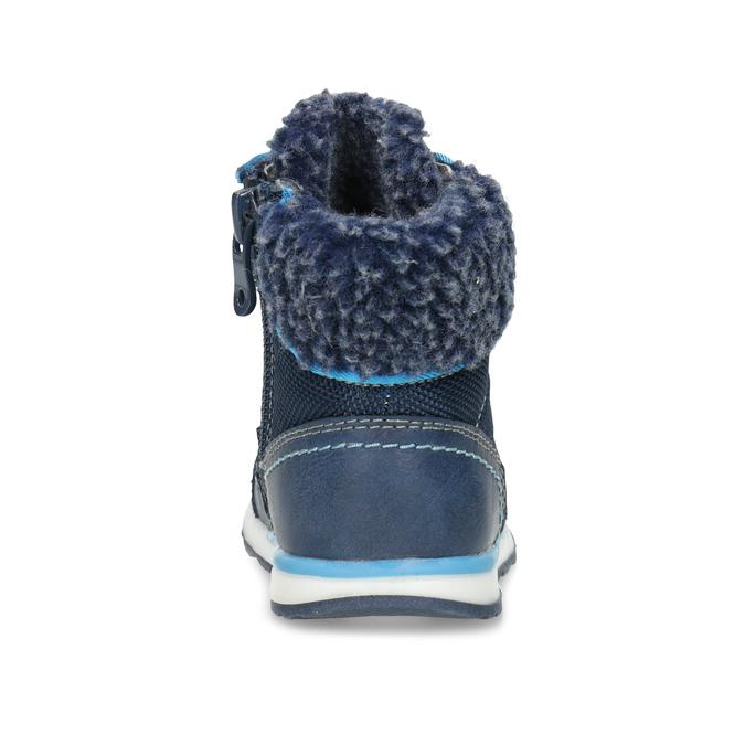 Modrá dětská zimní obuv se zateplením bubblegummers, modrá, 191-9616 - 15