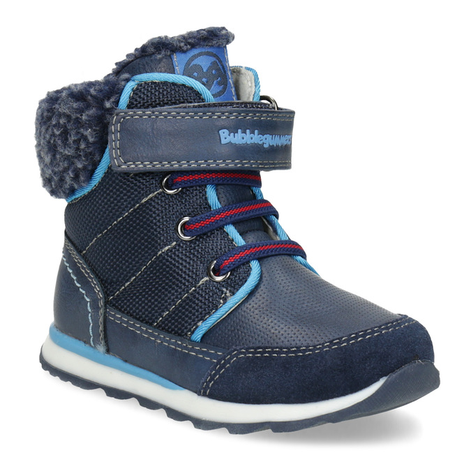 Modrá dětská zimní obuv se zateplením bubblegummers, modrá, 191-9616 - 13