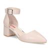 Tělové dámské lodičky na stabilním podpatku bata-red-label, růžová, 621-8654 - 13