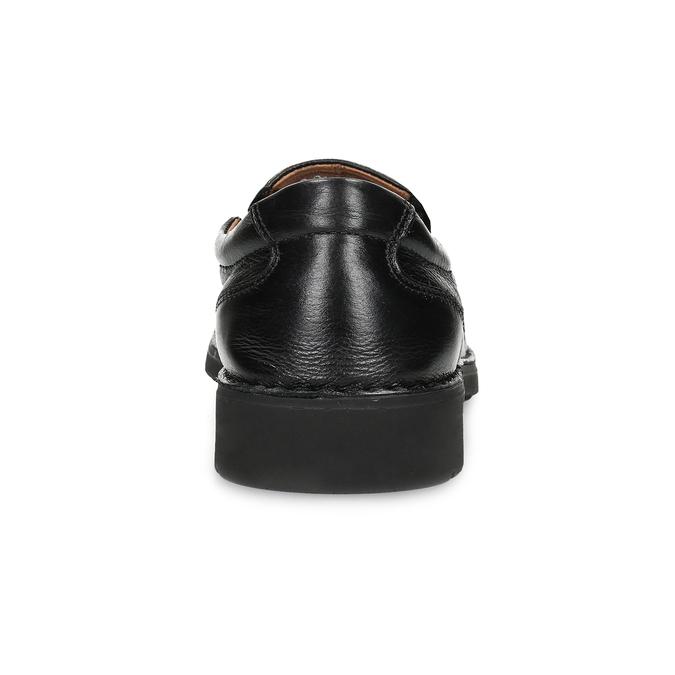 Kožené pánské mokasíny s pružením comfit, černá, 814-6652 - 15