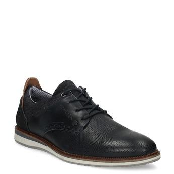 Tmavě modré kožené tenisky bata, modrá, 826-9870 - 13