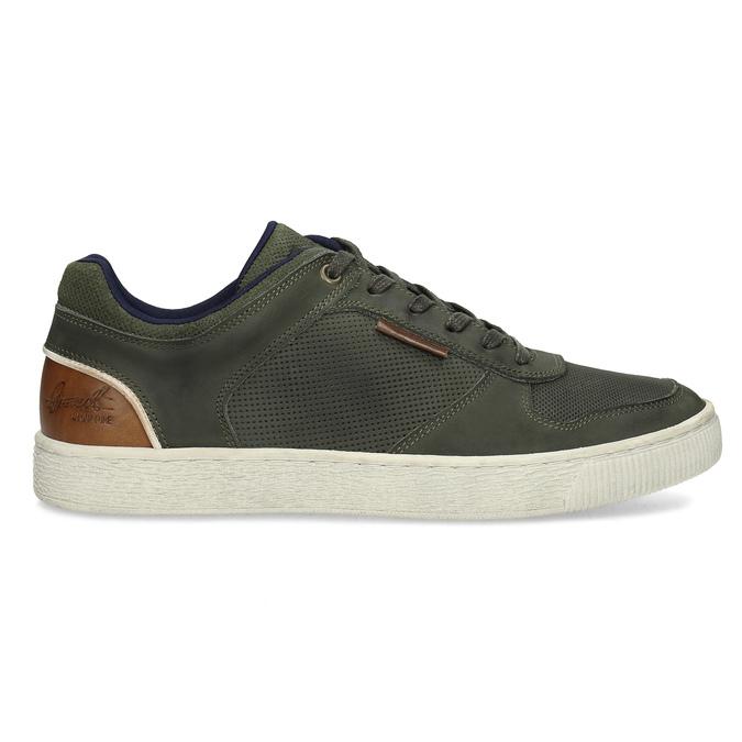 Kožené khaki pánské tenisky bata, zelená, 846-7735 - 19