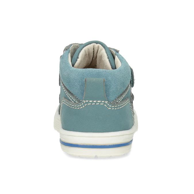 Dětské modré tenisky z broušené kůže bubblegummers, modrá, 116-9634 - 15