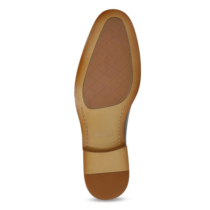 Kožené hnědé Oxford polobotky s perforací bata, hnědá, 826-2834 - 18