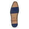 Tmavě hnědé kožené pánské polobotky bata, hnědá, 826-4615 - 18