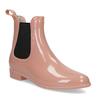Béžové Chelsea kotníčkové holínky bata, růžová, 592-5610 - 13