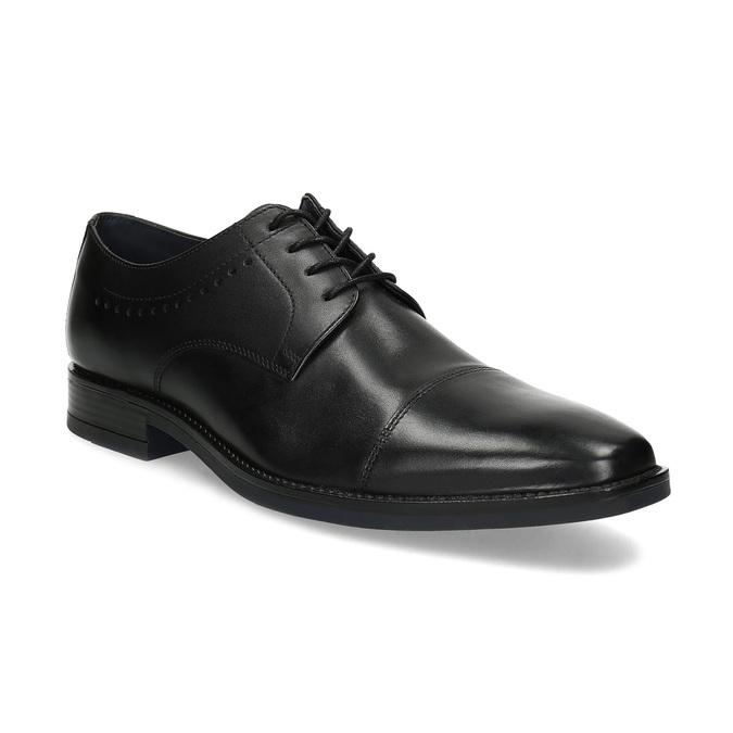 Černé pánské polobotky kožené bata, černá, 824-6860 - 13