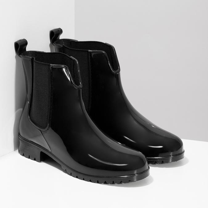Dámské černé kotníčkové holínky bata, černá, 592-6612 - 26