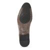 Pánské hnědé polobotky s perforací bata, hnědá, 826-3881 - 18