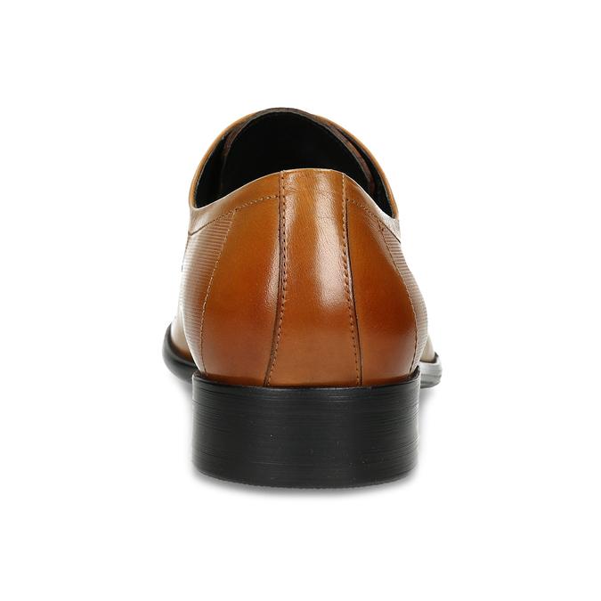 Světle hnědé kožené polobotky pánské bata, hnědá, 826-3613 - 15