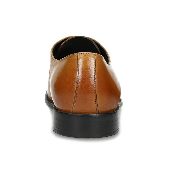 Hnědé kožené polobotky pánské s perforací bata, hnědá, 826-3656 - 15