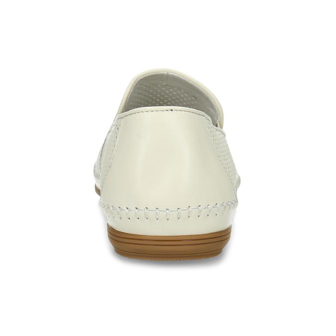 Bílé kožené pánské Loafers bata, bílá, 834-1627 - 15