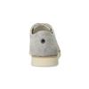 Dámské kožené polobotky s perforací flexible, šedá, 523-2605 - 15