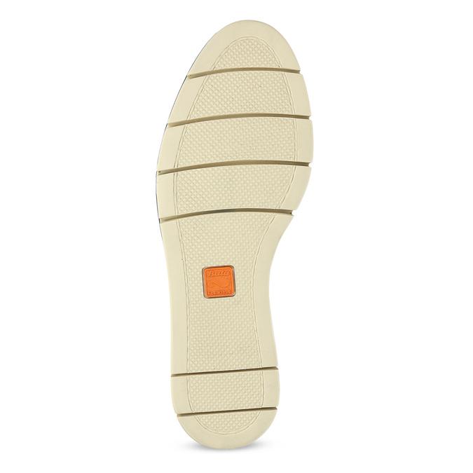 Béžové dámské kožené baleríny s perforací flexible, béžová, 524-8607 - 18