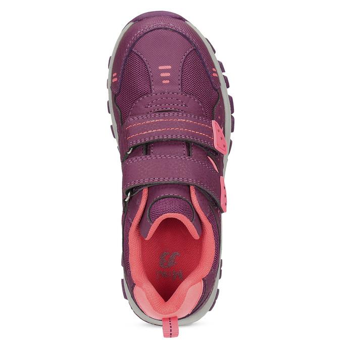 Fialové dětské tenisky na suché zipy mini-b, fialová, 321-5616 - 17