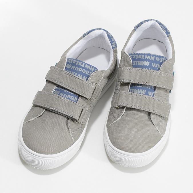 Chlapecké tenisky šedé na suchý zip mini-b, šedá, 411-2615 - 16
