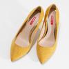 Žluté dámské lodičky na jehlovém podpatku bata-red-label, žlutá, 729-8637 - 16