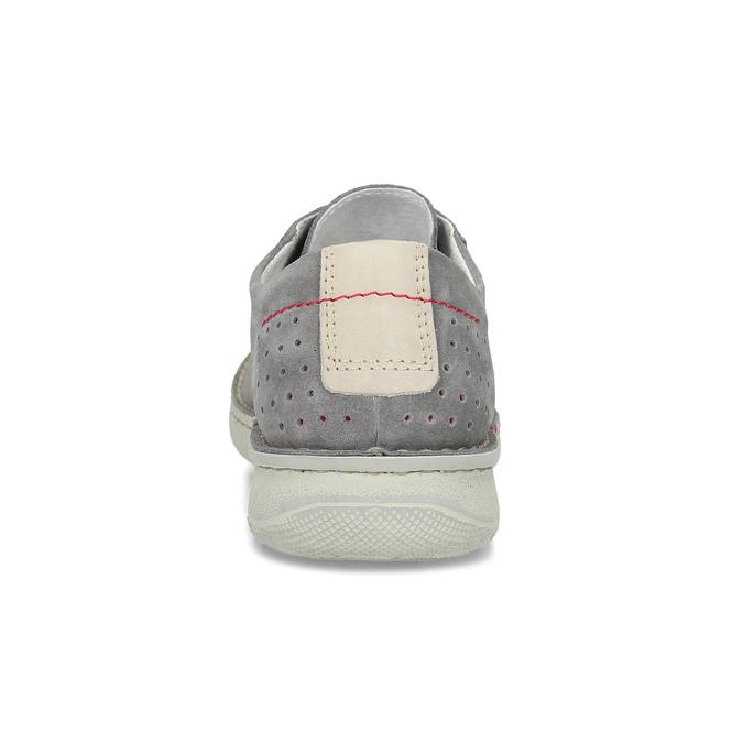 Pánské šedé tenisky z broušené kůže bata, šedá, 823-2640 - 15