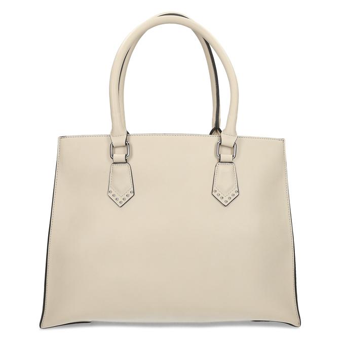 Dámská béžová kabelka s kovovými cvoky bata, béžová, 961-8962 - 16