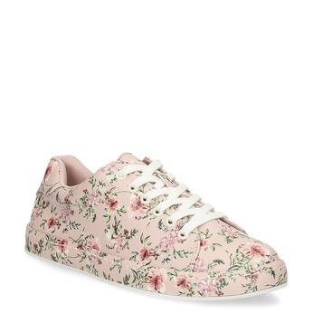 Květované dámské tenisky růžové bata-red-label, růžová, 541-5606 - 13