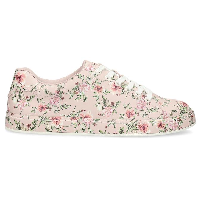 Květované dámské tenisky růžové bata-red-label, růžová, 541-5606 - 19