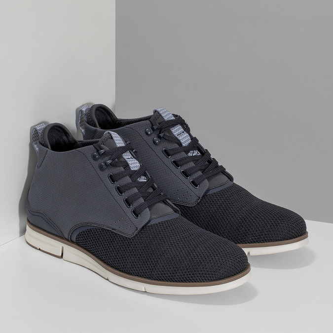 Tmavě modrá pánská kotníčková obuv bata-red-label, modrá, 821-9607 - 26