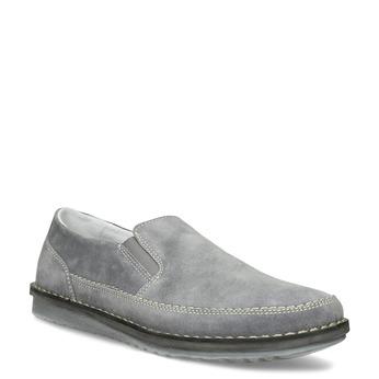 Pánské mokasíny z šedé broušené kůže comfit, šedá, 833-2651 - 13
